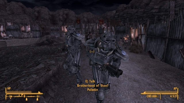 Fallout: New Vegas - How to Have Brotherhood Paladins Follow You to Legate's Camp